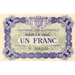 Bar-le-Duc - Pirot 19-11 - 1 franc - 01/09/1917 - Etat : SUP