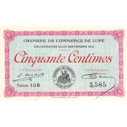 Lure - Pirot 76-1 - Série 108 - 50 centimes - 1915 - Etat : SUP+