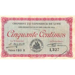 Lure - Pirot 76-13 - 50 centimes - Série 120 X - 25/09/1915 - Etat : TTB-