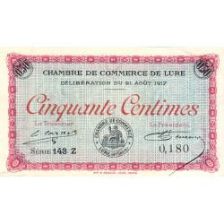 Lure - Pirot 76-18 - 50 centimes - Série 143 Z - 21/08/1917 - Etat : TTB