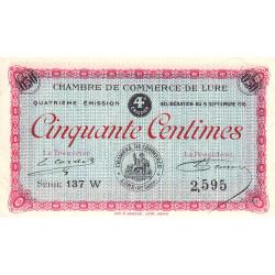 Lure - Pirot 76-24 - 50 centimes - Série 137 W - 09/09/1918 - Etat : SUP+
