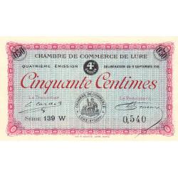 Lure - Pirot 76-24 - 50 centimes - Série 139 W - 09/09/1918 - Etat : NEUF