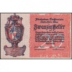 Liechtenstein - Pick 2 - 20 heller - 1920 - Etat : NEUF