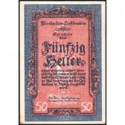Liechtenstein - Pick 3 - 50 heller - 1920 - Etat : pr.NEUF