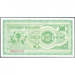 Macédoine - Pick 5 - 500 denars - 1992 - Etat : NEUF