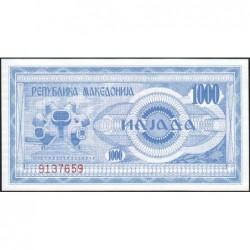 Macédoine - Pick 6 - 1'000 denars - 1992 - Etat : NEUF