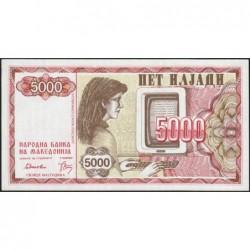 Macédoine - Pick 7 - 5'000 denars - 1992 - Etat : NEUF