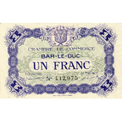 Bar-le-Duc - Pirot 19-11 - 1 franc - 1917 - Etat : SPL
