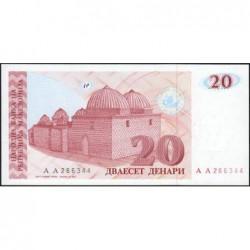 Macédoine - Pick 10 - 20 denars - 1993 - Etat : NEUF