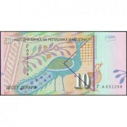 Macédoine - Pick 14b - 10 denars - 1997 - Etat : NEUF