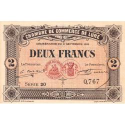 Lure - Pirot 76-30 - Série 20 - 2 francs - 1918 - Etat : pr.NEUF