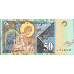 Macédoine - Pick 15c - 50 denars - 2001 - Etat : NEUF