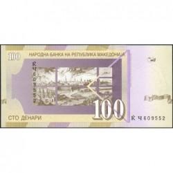 Macédoine - Pick 16d - 100 denars - 2002 - Etat : NEUF