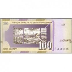 Macédoine - Pick 16e - 100 denars - 2004 - Etat : NEUF