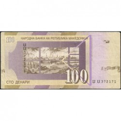 Macédoine - Pick 16f - 100 denars - 2005 - Etat : TB+