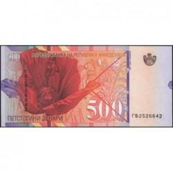 Macédoine - Pick 17 - 500 denars - 1996 - Etat : pr.NEUF