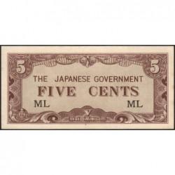 Malaisie Britannique - Pick M 2a - 5 cents - Série ML - 1942 - Etat : pr.NEUF