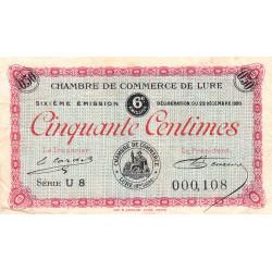 Lure - Pirot 76-36 - Série U 8 - 50 centimes - 1920 - Etat : TB+