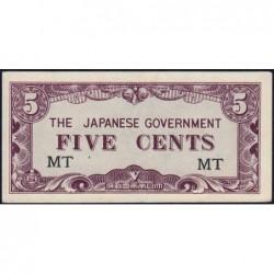 Malaisie Britannique - Pick M 2a - 5 cents - Série MT - 1942 - Etat : pr.NEUF