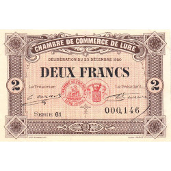 Lure - Pirot 76-39 - Série 61 - 2 francs - 1920 - Etat : SUP+