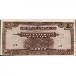 Malaisie Britannique - Pick M 8a - 100 dollars - Série MT - 1944 - Etat : TTB