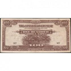 Malaisie Britannique - Pick M 8b - 100 dollars - Série MT - 1944 - Etat : TTB