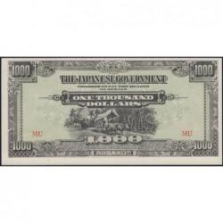 Malaisie Britannique - Pick M 10b - 1'000 dollars - Série MU - 1945 - Etat : pr.NEUF