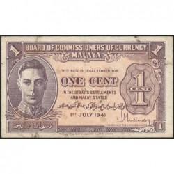 Malaisie Britannique - Pick 6 - 1 cent - 01/07/1941 - Etat : TB+