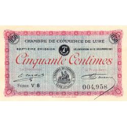Lure - Pirot 76-41 - 50 centimes - Série V 8 - 12/12/1921 - Etat : SPL