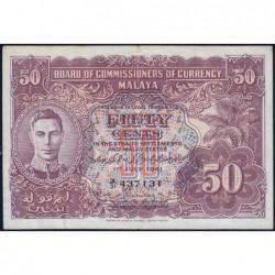 Malaisie Britannique - Pick 10b_2 - 50 cents - Série A/31 - 01/07/1941 - Etat : TTB+