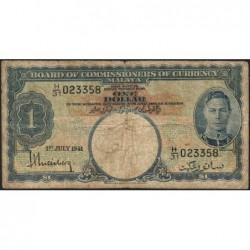 Malaisie Britannique - Pick 11 - 1 dollar - Série H/31 - 01/07/1941 - Etat : B+