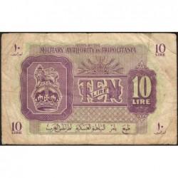 Libye - Tripolitaine - Pick M 4 - 10 lire - 1943 - Etat : TB