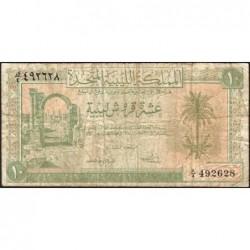 Libye - Pick 6 - 10 piastres - Série K/4 - 24/10/1951 - Etat : TB-