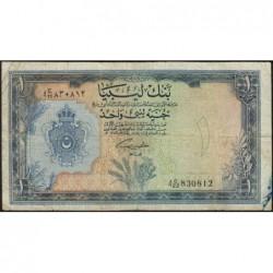 Libye - Pick 25 - 1 libyan pound - 05/02/1963 - Série 4C/22 - Etat : TB