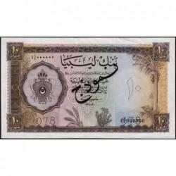 Libye - Pick 27s - 10 libyan pounds - Série 4A/4 - 05/02/1963 - Spécimen - Etat : TTB+ à SPL