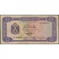 Libye - Pick 34b - 1/2 dinar - 1972 - Série 1D/4 - Etat : TB-