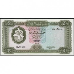 Libye - Pick 36b - 5 dinars - Série 1B/43 - 1972 - Etat : NEUF