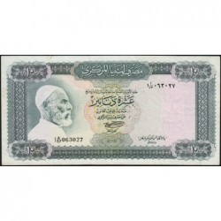 Libye - Pick 37b - 10 dinars - 1972 - Série 1A/57 - Etat : TTB