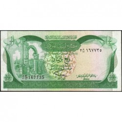 Libye - Pick 42Ab - 1/4 dinar - 1981 - Série 2E/17 - Etat : TTB