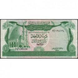Libye - Pick 44a - 1 dinar - 1980 - Série 2C/9 - Etat : TB