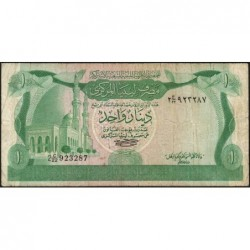 Libye - Pick 44a - 1 dinar - Série 2C/22 - 1980 - Etat : TB