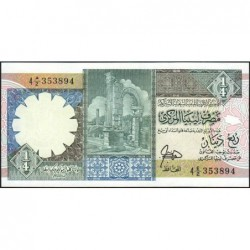 Libye - Pick 52 - 1/4 dinar - Série 4E/2 - 1990 - Etat : NEUF