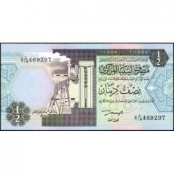 Libye - Pick 58b - 1/2 dinar - 1991 - Série 4D/16 - Etat : NEUF