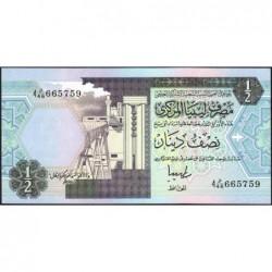 Libye - Pick 58c - 1/2 dinar - 1996 - Série 4D/46 - Etat : NEUF