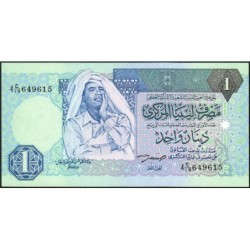 Libye - Pick 59a - 1 dinar - 1993 - Série 4C/19 - Etat : NEUF