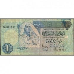 Libye - Pick 59b - 1 dinar - Série 4C/42 - 1996 - Etat : B+