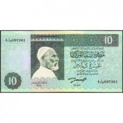 Libye - Pick 61a - 10 dinars - Série 4A/118 - 1991 - Etat : SUP+