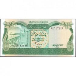 Libye - Pick 43b - 1/2 dinar - 1981 - Série 2D/17 - Etat : NEUF