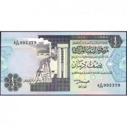 Libye - Pick 58b - 1/2 dinar - 1991 - Série 4D/26 - Etat : NEUF