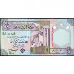 Libye - Pick 63 - 1/2 dinar - 2002 - Série 5D/15 - Etat : NEUF